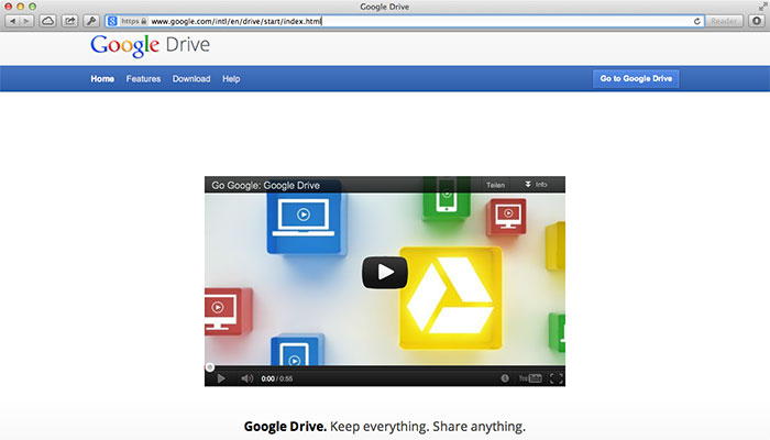 Google Drive Website