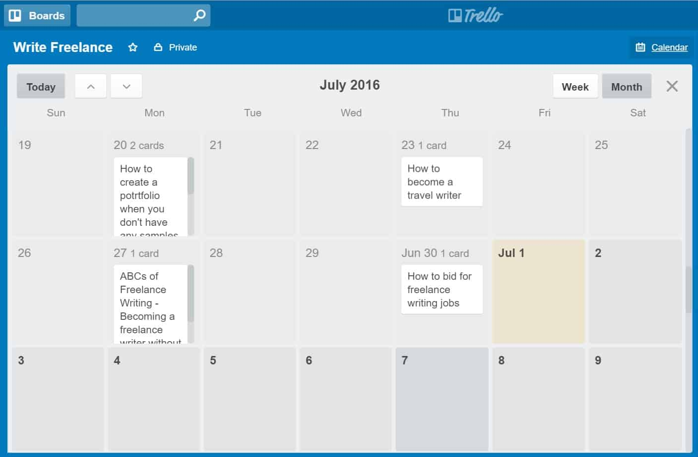 how to add a calendar to trello